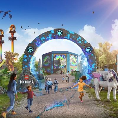 LEGO® MYTHICA Portal and Rides at LEGOLAND® Windsor Resort