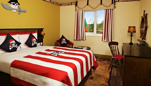 Adult's Area of Pirate Themed Room in the LEGOLAND Resort Hotel